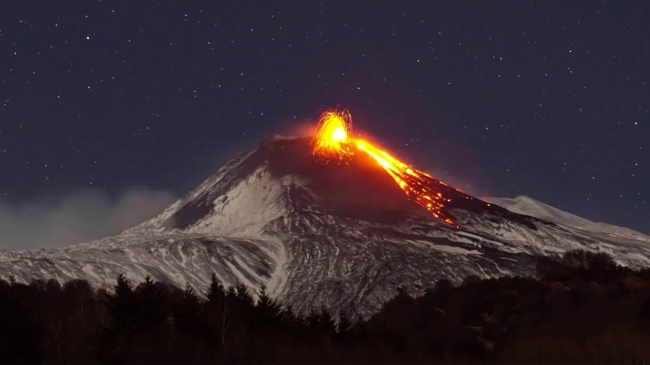 Mount Etna Captured Violently Erupting At It's Summit 1