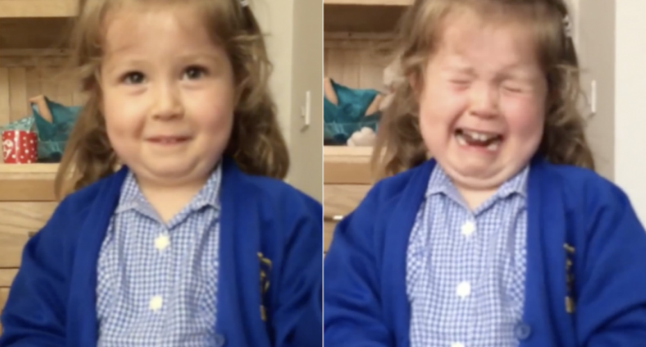 This Little Girl's Completely Devastated At The Fact She's Having a Baby Brother 9
