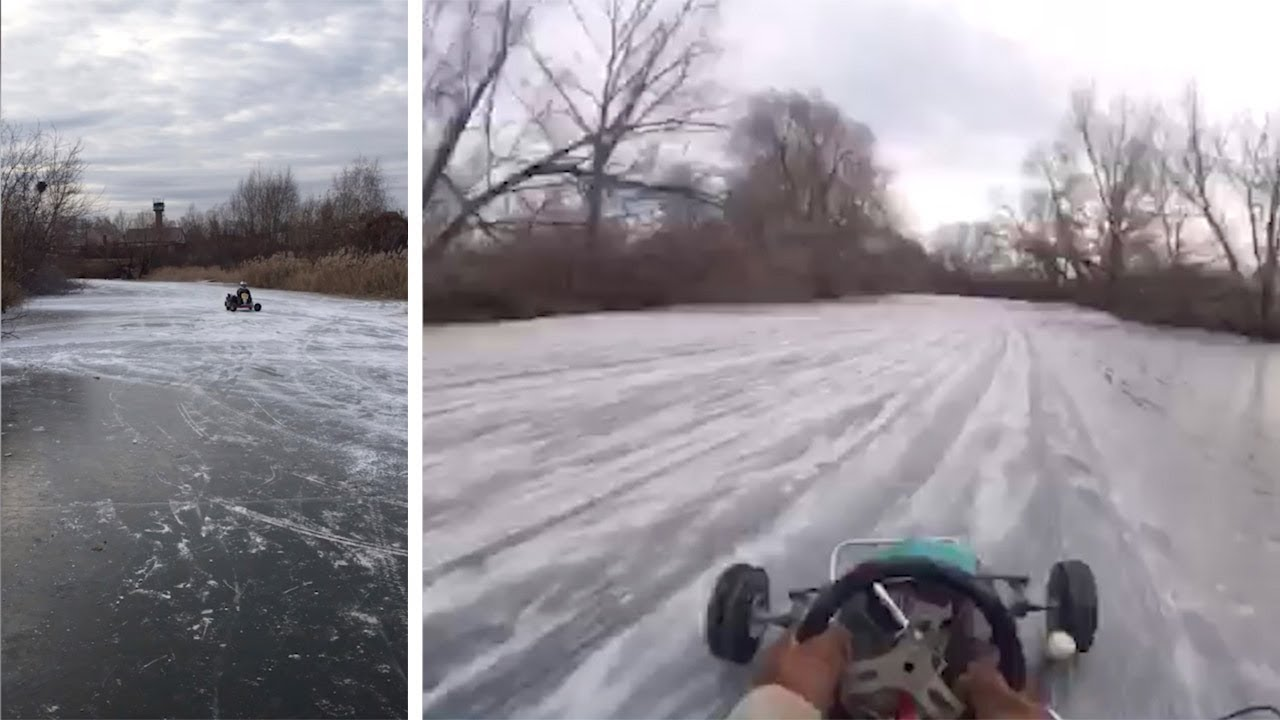 Epic Go Karting Over Frozen Lake 7