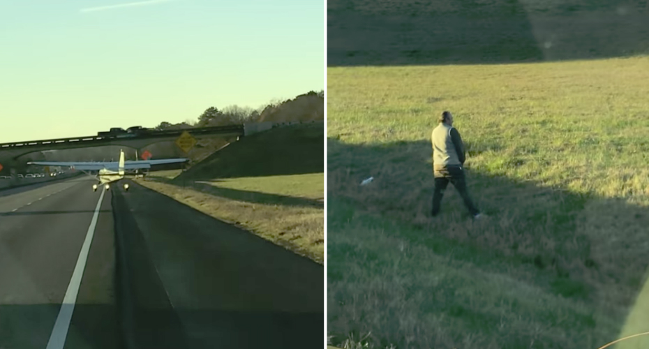 Plane Has Emergency Landing On Highway, So Pilot Urinates On Side Of Road 2