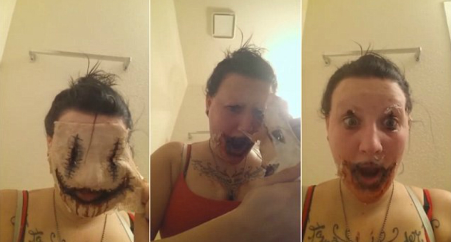 Girl Rips Off Eyebrows Attempting to Take Off Homemade Mask 7