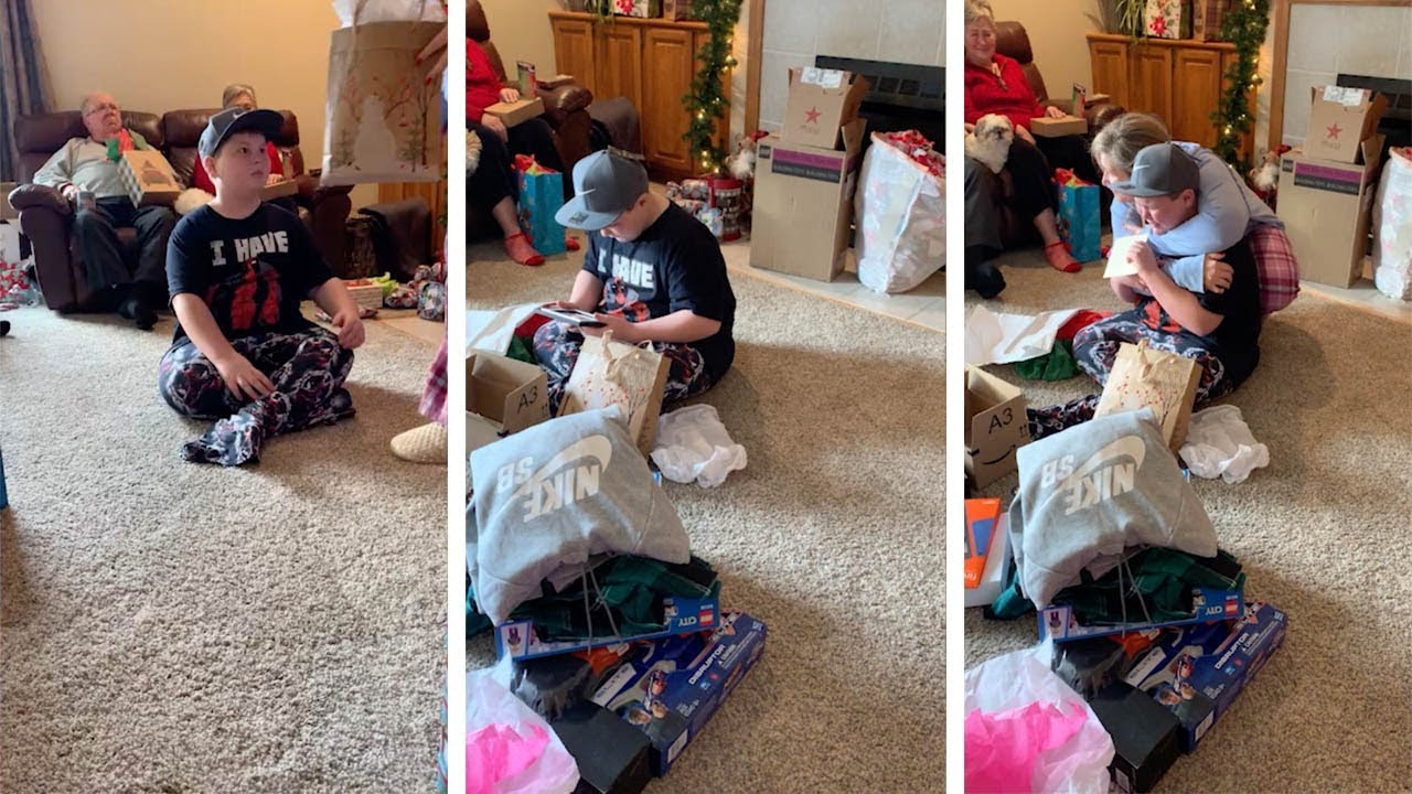 Heartwarming Moment Boy Is Adopted For Surprise Christmas Present 5