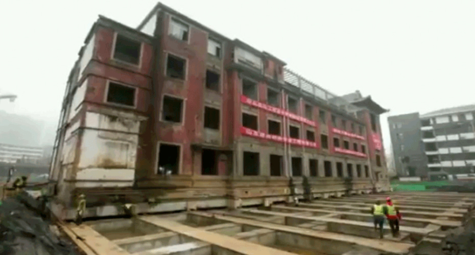 65-Year- Old Hotel Moved Northward Fully Intact By 35.56 Meters 6