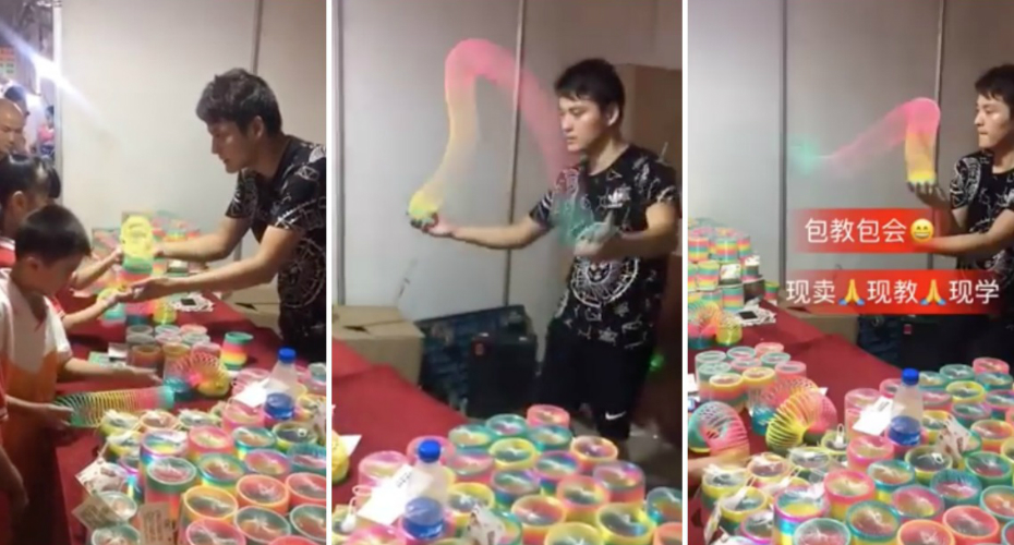 This Slinky Salesman's Slinky Juggling Skills Are Actually Mind-Bending 9