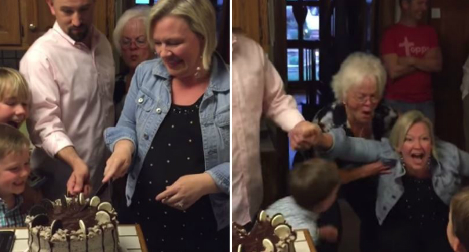 A Mother Of 6 Boys Has The Greatest Reaction Ever During The Gender Reveal 3