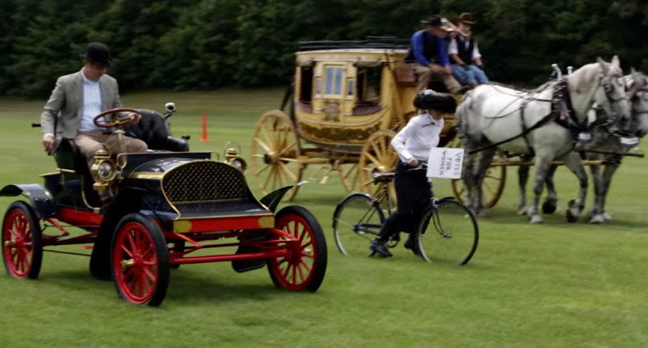 Horses vs. Horsepower: Watch Historic Rides Race Each Other 2
