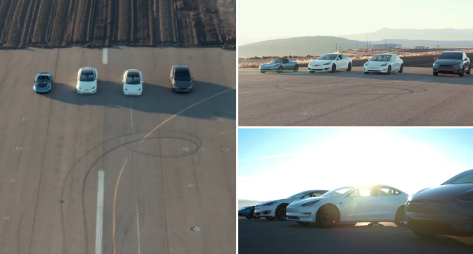 Watch World's Most Epic Tesla Race: Model S, 3, X & Roadster 3