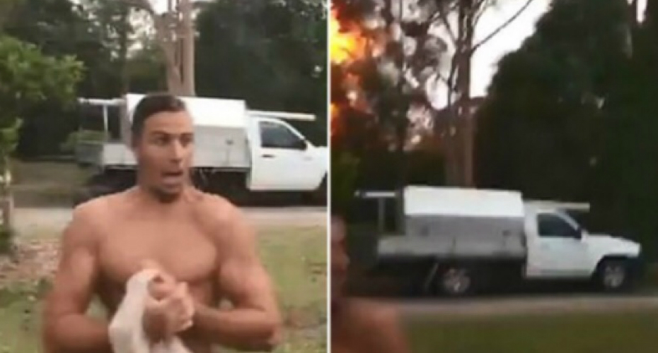 Lightning Bolt Splits Tree In Half Meters Away From Group Of Mates 3