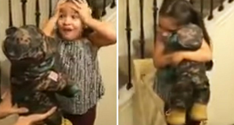 Little Girl Gets A Very Special Teddy Bear 6